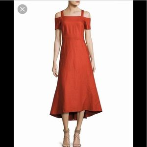 A.L.C Daniel cold shoulder midi dress